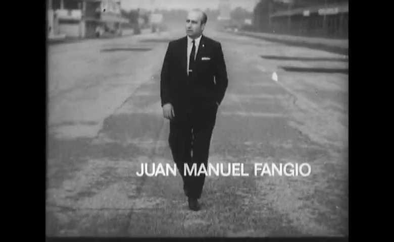 J. M. Fangio ricorda le corse di Ospedaletti (1949), Monaco (1950), GP Barcellona (1951), GP Italia (1953), GP Germania (1957)