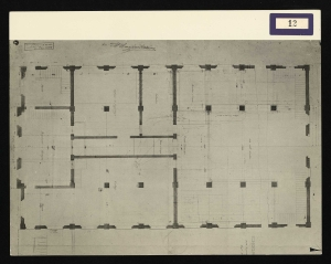 Pianta del primo stabilimento Pirelli di via Ponte Seveso