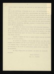 Lettera di Giovanni Battista Pirelli al colonnello Polli
