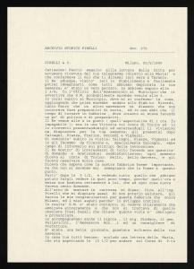 Lettera di Francesco Sormani a Giovanni Battista Pirelli