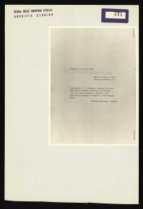 Telegramma dell'ambasciatore italiano a Madrid Carlo Alberto Maffei