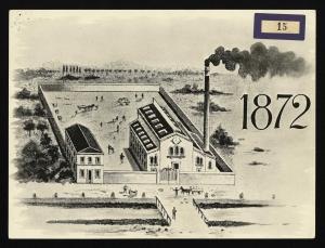 Veduta del primo stabilimento Pirelli di via Ponte Seveso