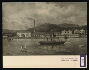 Veduta pittorica dello stabilimento di La Spezia
