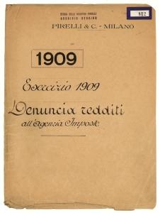 1909/Esercizio 1909/Denucia redditi all'Agenzia Imposte