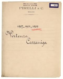 1907 - 1908 - 1909/Vertenza Cazzaniga