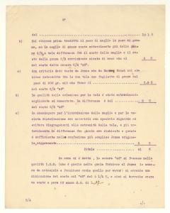 Rapporto della Sede Pirelli & C. di Milano ad Alberto Pirelli