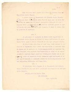 Copia del Decreto Ministeriale n. 11099 del 22 luglio 1910