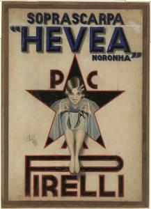Bozzetto per pubblicità delle soprascarpe Hevea Noronha Pirelli