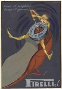 Bozzetto per pubblicità dei tacchi in gomma marca Stella Pirelli