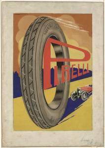 Bozzetto per pubblicità del pneumatico Pirelli Superflex Cord