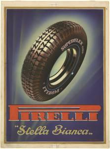 Sketch for Pirelli Superflex Stella Bianca tyres advertising campaign