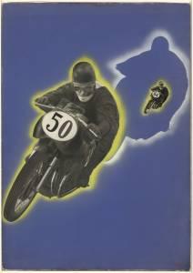 Bozzetto per pubblicità dei pneumatici moto Pirelli