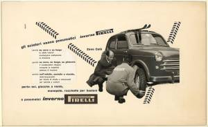 Sketch for  Inverno Pirelli tyre advertising campaign
