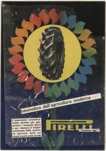 Bozzetto per pubblicità dei pneumatici per agricoltura Pirelli