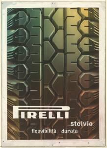 Bozzetto per pubblicità del pneumatico Stelvio Pirelli