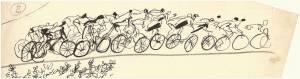 Disegno per illustrazione della rivista Pirelli. Rivista d'informazione e di tecnica