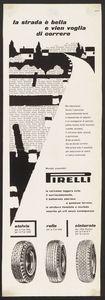 Pubblicità dei pneumatici Stelvio Rolle Cinturato Pirelli