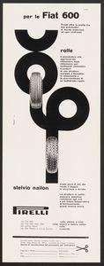 Pubblicità dei pneumatici Rolle e Stelvio Nailon Pirelli