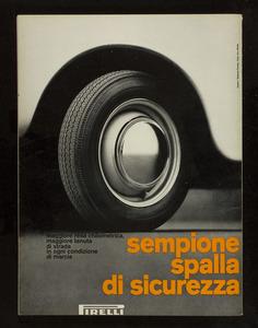 Pubblicità del pneumatico Sempione Pirelli