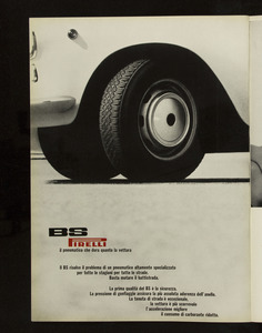 Pubblicità del pneumatico BS Pirelli