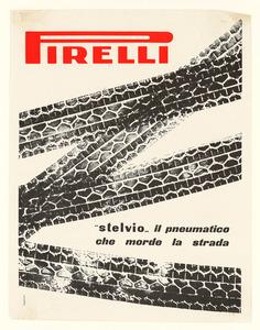 Pubblicità del pneumatico Stelvio Pirelli