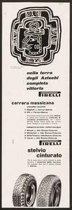 Pubblicità dei pneumatici Stelvio e Cinturato Pirelli