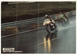 Pubblicità dei pneumatici da motocicletta Pirelli Supersport HMT11 e HMT18
