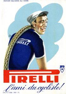 Pubblicità dei pneumatici velo Pirelli