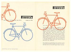 Pubblicità dei pneumatici Pirelli da bicicletta