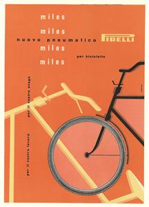 Pubblicità del pneumatico Miles Pirelli per bicicletta