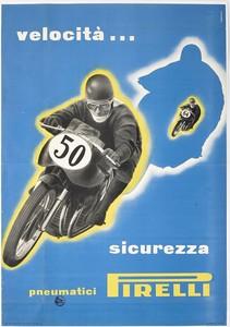 Pubblicità dei pneumatici moto Pirelli