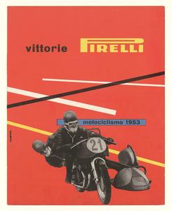 Pubblicità dei pneumatici Pirelli per motocicletta