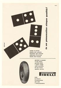 Pubblicità dei pneumatici Pirelli per motorscooter