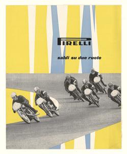 Pubblicità dei pneumatici Pirelli per motocicli e motorscooter