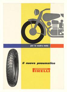 Pubblicità dei pneumatici Pirelli per motociclette