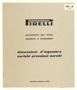 Opuscolo con le informazioni tecniche sui pneumatici Pirelli per le due ruote