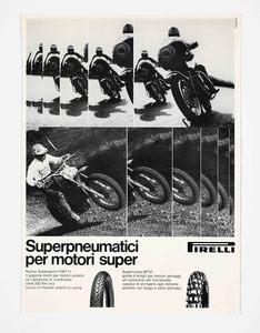Pubblicità dei pneumatici da motocicletta Pirelli Supersport HMT11 e Supercross MT07