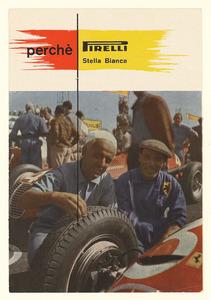 Pubblicità del pneumatico Pirelli Stella Bianca