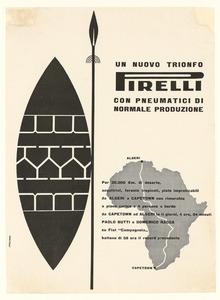Pubblicità dei pneumatici Pirelli per automobile