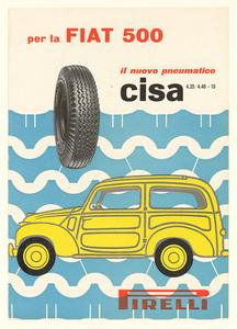 Pubblicità del pneumatico Cisa Pirelli