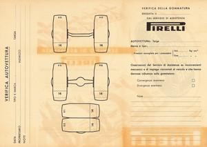 Pieghevole del servizio di assistenza per la verifica delle gommature delle autovetture