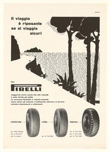 Pubblicità dei pneumatici Cinturato, Rolle e Stelvio Pirelli