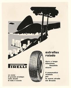 Pubblicità del pneumatico Extraflex Raiado Pirelli