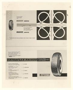 Pubblicità dei pneumatici Stelvio ed Extraflex Raiado Pirelli