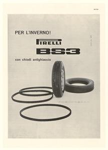 Pubblicità del pneumatico BS3 Pirelli con chiodi antighiaccio