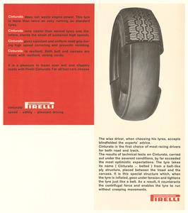 Pubblicità del pneumatico Cinturato Pirelli