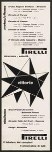 Pubblicità dei pneumatici Pirelli per motociclette e biciclette