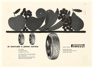 Pubblicità dei pneumatici Pirelli per scooter