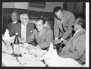 Prize-giving lunch for the winner of the 1950 Gran Premio Pirelli - photo by Patellani