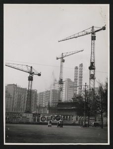 Construction of the Pirelli Centre - March 1957 - photo by Calcagni